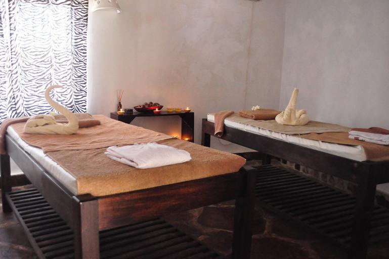Relaxačné prostredie, dve postele vedľa seba