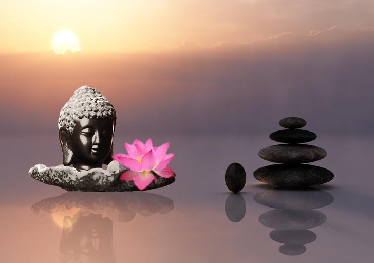 Masážne ezoterické prvky, kamene, soška